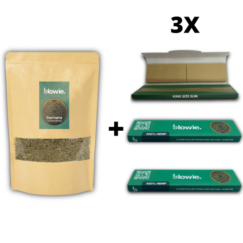 Damiana + Rolling paper package deal